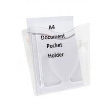 A4 Document Pocket Wall Holder