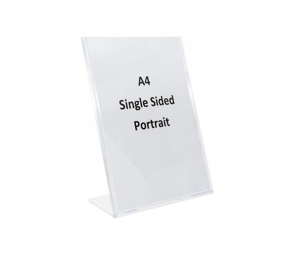 A4 Single Sided Acrylic Sign Holders