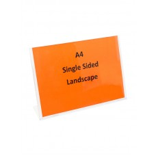 A4 Single Sided Sign Holder Landscape