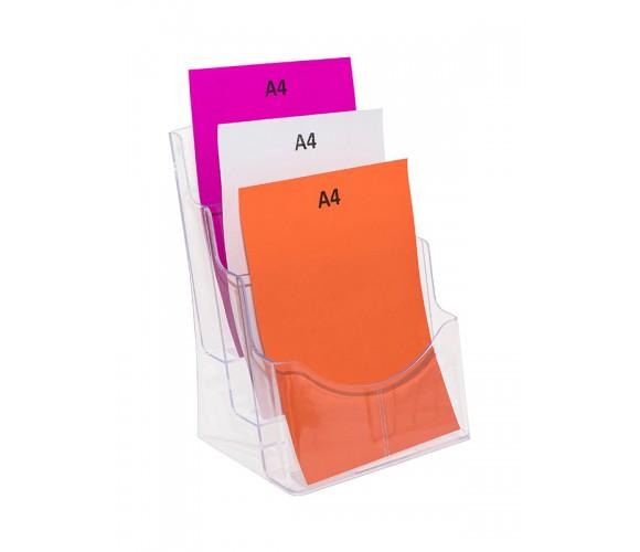 Three Pocket A4 Brochure Holder