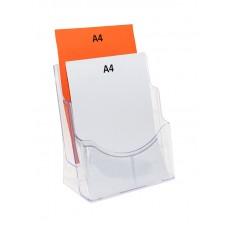 A4 Plastic Brochure Holder - 2 Pocket