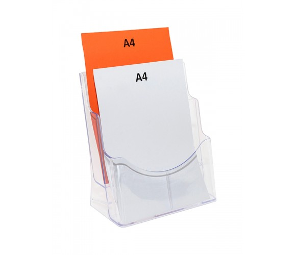Two Pocket A4 Plastic Brochure Holder
