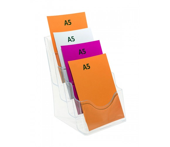 Four Tier A5 Brochure Holder
