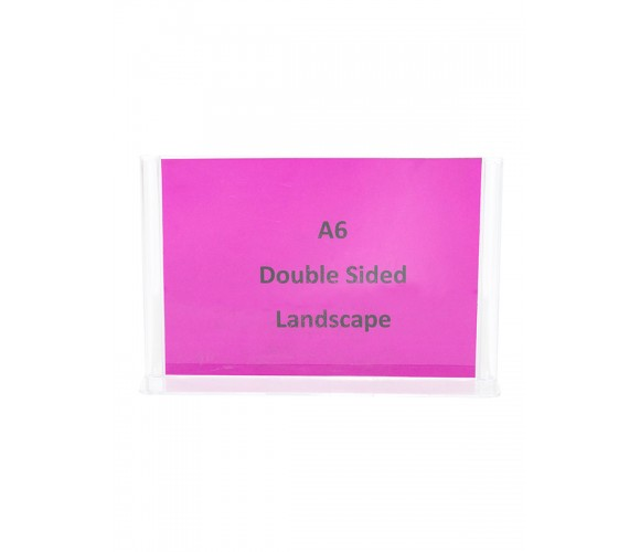 A6 Double Sided Landscape Sign Holder